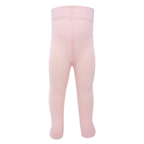 Ewers Baby- und Kinderstrumpfhose für Mädchen Zopfmuster, Made in Europe, Strumpfhose Baumwolle Uni Basic