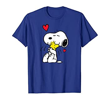 Peanuts Valentine Snoopy and Woodstock Lots of Love T-Shirt