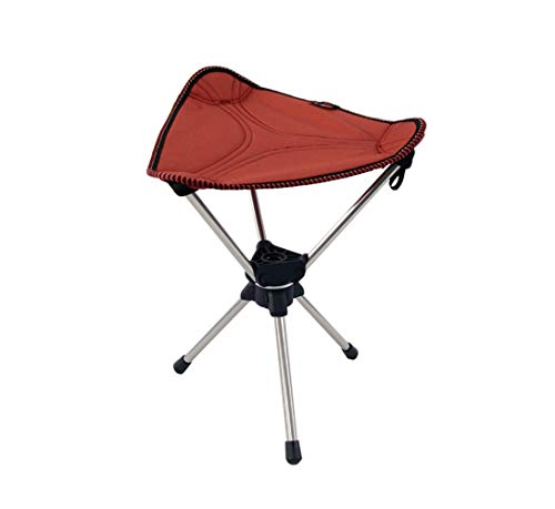 TALON - Premium Camping Stool Tripod Folding Chair, 360 Degree Swivel by Patent Technology, Portable Super Compact for Camp, Fishing, Hunting, Travel, Hiking, Lightweight Hold up to 330lbs/150kg