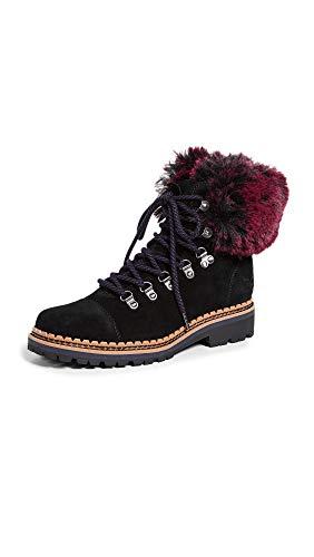 Sam Edelman Women's Bowen Fashion Boot, Black/Raspberry Wine, 11 M US