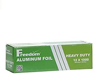 Heavy Duty Aluminum Foil Wrap, Commercial Grade 1000ft Foil Wrap for Food Service Industry, Strong Silver foil, 12 inches ...