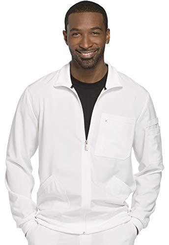 CHEROKEE Infinity Men 'Men's Zip Front Jacket, CK305A, L, White