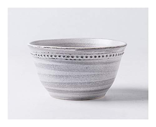 Tazón Tazón japonés retro Vajilla de cerámica Plato de Arroz del hogar cuencos pintados a mano creativa de sopa tazón tazón de bajo relieve de la vendimia come un tazón de Hogares vajillas hogar, tazó