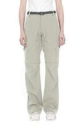 Little Donkey Andy Women's Stretch Convertible Pants Zip-Off Quick Dry Hiking Pants Khaki Size L