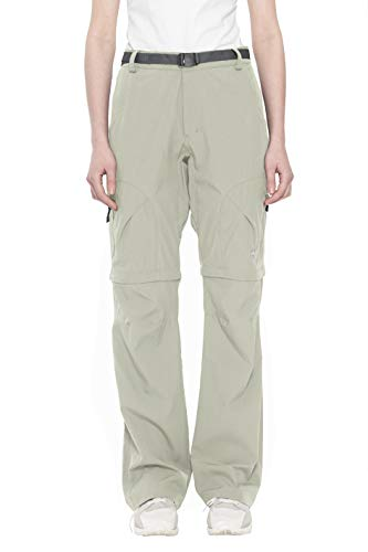 Little Donkey Andy Women's Stretch Convertible Pants Zip-Off Quick Dry Hiking Pants Khaki Size L
