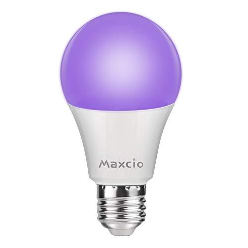 Ampoule UV 11W E27, Maxcio Lumière Noire LED, 100-240V Lampe