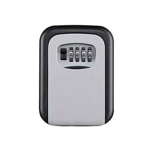 BiaBai Cassetta di Sicurezza per Chiavi in Lega di Alluminio fissata al Muro con Chiave d'Argento, Resistente alle intemperie