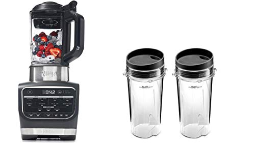 Foodi Cold & Hot Cook Hot Soups, Sauces and Dips Blender with 1400 Peak Watts to Crush Frozen Drinks & Smoothies Nonstick Glass Pitcher (HB152), 64 oz
