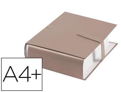 Carpeta con correa Balacron de gran capacidad, 24 x 32 cm, espalda extensible 13 cm, cierre de velcro, cubierta de tarjeta 10/10, color beige