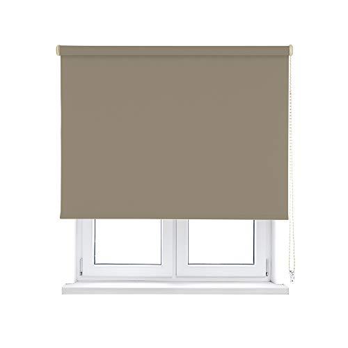 KAATEN Estor Enrollable Opaco/Black-out/Oscurante-Disponible en Varias Medidas y Colores, Textura, Desert, 105x250