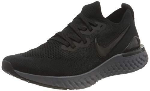 Nike Women's Epic React Flyknit2 Cross Trainers, Black Black White Gunsmoke, 9.5 UK