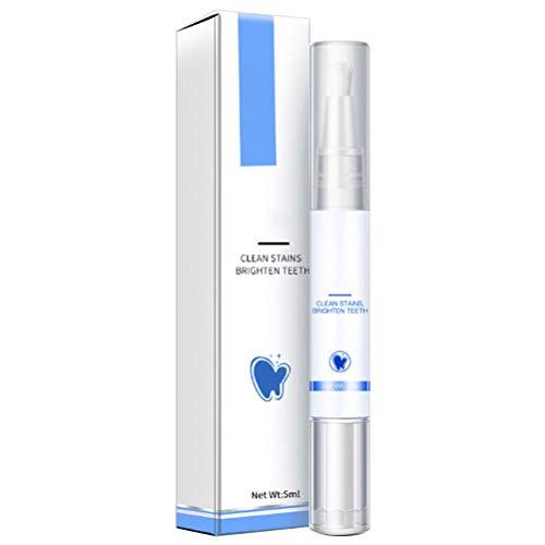 TiKiNi Zahnweiß-Flüssigkeitsstift, Tiefenreinigung Mundpflege, Plaque-Flecken entfernen, leichter tragbarer, nicht empfindlicher Zahnweiß-Stift für schönes weißes Lächeln 5 ml