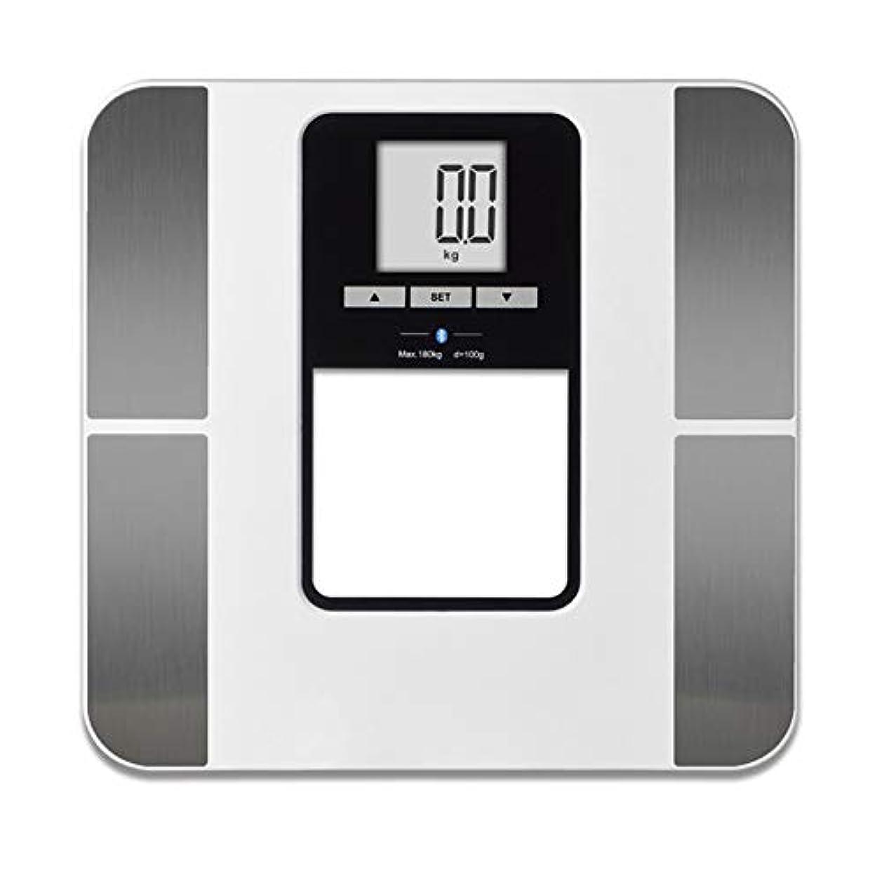 中級朝接続Nrpfell ブルートォースフロアスケール 体脂肪電子スケール バスルーム用 180kg / 400ポンドスマートデジタルバランス