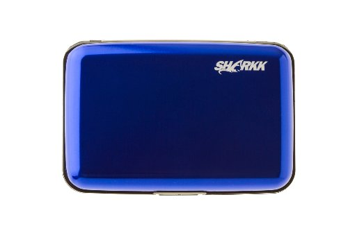 SHARKK tarjetero de aluminio titular de la tarjeta de Crédito por SHARKK marcas, azul, talla única