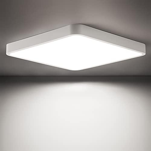 LED Deckenleuchte Flach 22W, 2200LM LED Deckenlampe 22x22CM, Oraymin LED Deckenleuchte Flach Panel für Wohnzimmer Schlafzimmer Küche Balkon Büro Flur, Neutralweiß 4000K