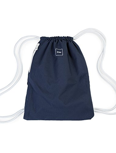 MSTRDS Unisex Basic Gym Bag Rucksack navy One einfarbiger Turnbeutel im Hipster Stil