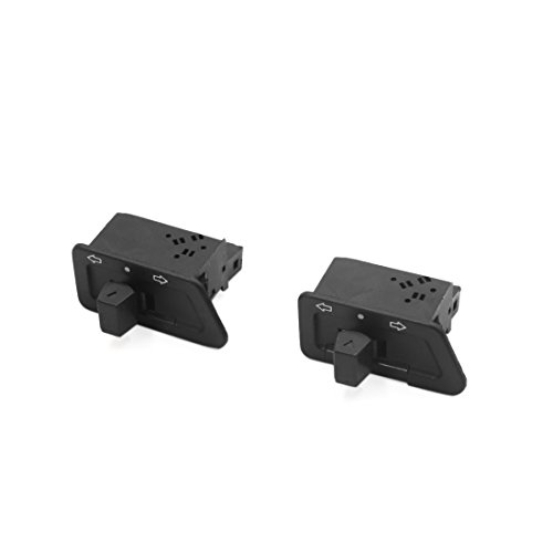 sourcing map 2Pcs 3 Pinnes Interruptor Plástico Negro de Luz Intermitente para la Moto GY6125
