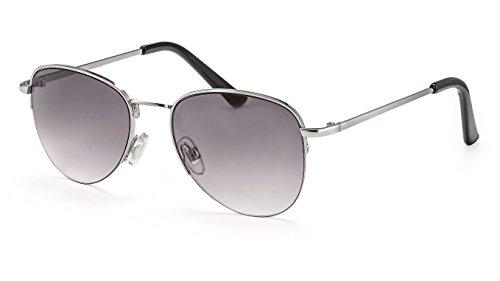 Filtral Kleine Pilotenbrille/Unisex Fliegerbrille für Damen & Herren mit Verlaufstönung/Speziell für schmale, kleine Köpfe F3002418