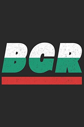 BGR: Bulgarien Tagesplaner mit 120 Seiten in weiß. Organizer auch als Terminkalender, Kalender oder Planer mit der bulgarischen Flagge verwendbar