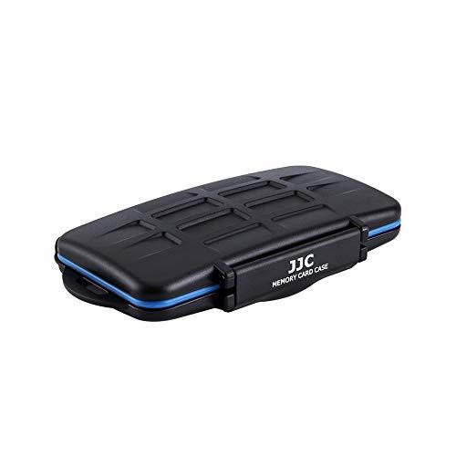 JJC Estuche Impermeable para 36 Ranura Tarjetas de memorias: 18 x Tarjetas Micro SD SDHC SDXC + 12 x Tarjetas SD + 6 x Tarjetas Compact Flash CF con mosquetón