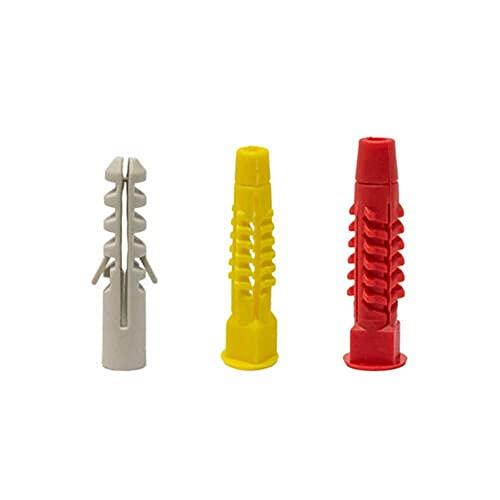 Perno de ancla Kit de tapones de pared PA para material hueco y anclajes materiales sólidos 500pcs Usado para; reparado (Color : As shown)
