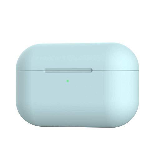 Funda AirPods Pro, Funda Protectora Silicona para Apple Airpods Pro 2019 Estuche Carga, Caja Airpods Prueba Golpes Accesorios [LED Frontal Visible] Azul Claro