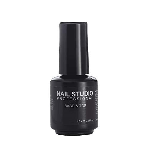 Nail Studio - Smalto per Unghie Base & Top Coat Gel Semipermanente Mani e Piedi- Finitura della Manicure Unghie per Garantire Durata dello Smalto