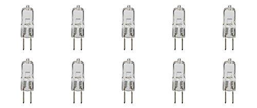 G5.3 BI Pin Base T3 T4 Capsule ampoule halogène 240 V 2pin Jcd type spot de remplacement de fixation à la maison, au plafond, DE SALLE DE BAIN et bureau Lightings, Blanc chaud en Clair objectif (lot de 10), Clear Warm White, G5.3 75.00 W 240.00 voltsV