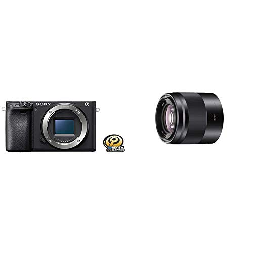Sony Alpha a6400 Mirrorless Camera: Compact APS-C Interchangeable Lens Digital Camera and Sony - E 50mm F1.8 OSS Portrait Lens (SEL50F18/B), Black