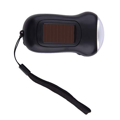 Plástico ABS Mini portátil manivela Dynamo 3 LED linterna de energía solar Camping antorcha envío gratis