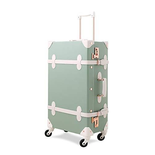 Axita トランクケース かわいい キャリーバッグ S型機内持込可 手作り 復古主義 修学旅行 静音四輪 レトロ おしゃれ 可愛い キャリーケース(一年安心保証)