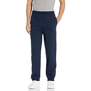 Gildan Men's Fleece Elastic Bottom Sweatpants with Pockets, Style G18100, Navy, 2X-Large