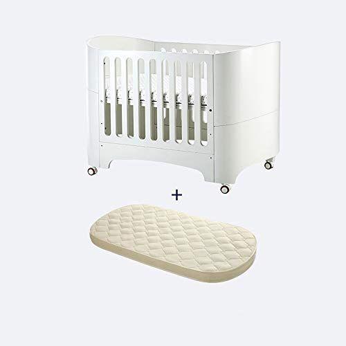 HIZLJJ 4-in-1 Convertible Crib Bedside Sleeper Easy Folding Portable Crib with Toddler Bed Conversion Kit,Easily Converts to Toddler Bed Day Bed or Sofa Bed,Three Position Adjustable Height Mattress