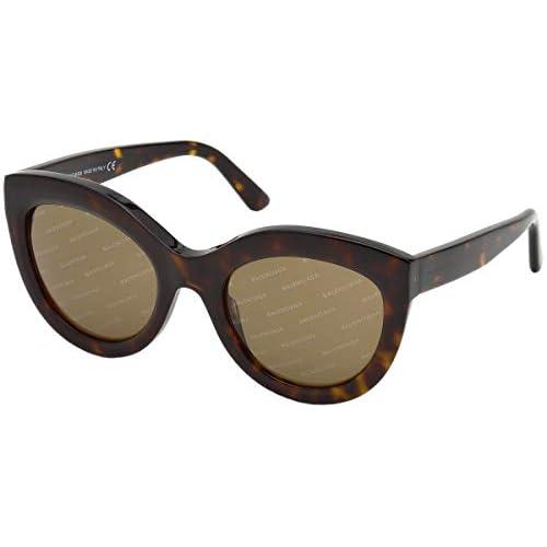 Balenciaga Sunglasses Ba0133 52E-54-22-140 Occhiali da Sole, Marrone (Braun), 54 Donna