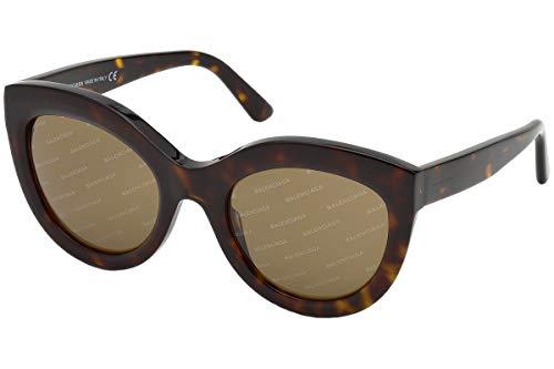 Balenciaga Sunglasses Ba0133 52E-54-22-140 Gafas de sol, Marrón (Braun), 54 para Mujer