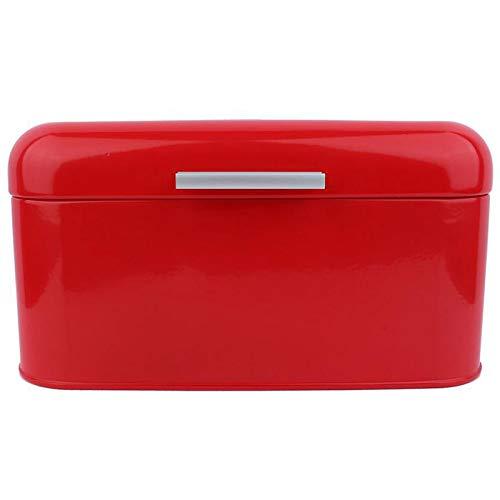 Facibom Acryl Box Volltonfarbe Retro Metall Brotkasten Box mit Gro?Er Kapazit?T KüChe Vorratsbeh?Lter -Rot
