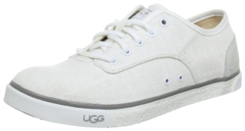 Hot Sale UGG Women's Hally Sneaker (8.5, White)