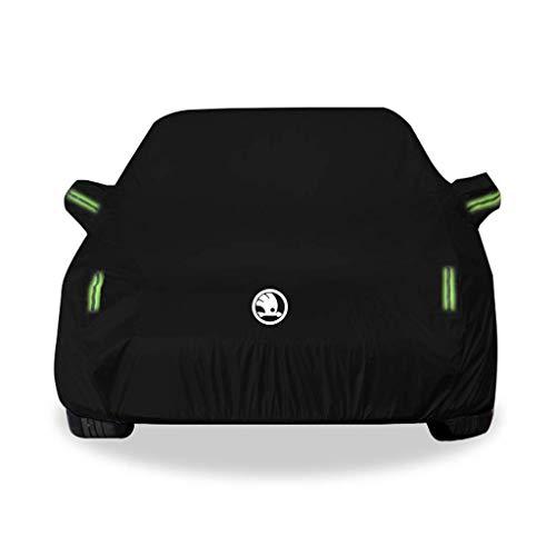 Yapin Skoda KAROQ Modellauto Bekleidung Sonnenschutz Regenschutz Isolierung Dicker Schatten Oxford Stoffbezug Kratzen Anti-Pull-Autoabdeckung Jacken Schutzkleidung