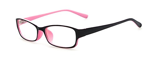 Outray Outray Retro-Brille für Kinder /Jugendliche, rechteckig, nicht verschreibungspflichtig, klare Gläser, Brillengestell für Jungen/Mädchen Gr. 85, rose