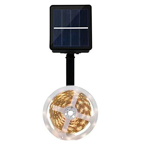 Fransande 150 / 180 LED Solar Luz de Banda Solar RGB Decoración de Jardín al Aire Libre NooL Nool 5 M 150 LED Blanco Cálido