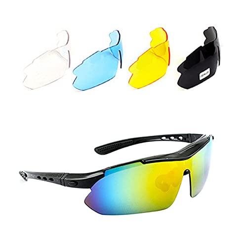 adfafw Gafas de sol polarizadas para ciclismo Gafas de sol deportivas polarizadas Gafas de ciclismo con protección UV con 5 lentes intercambiables para Conducir Senderismo Montar Pesca Golf lovely