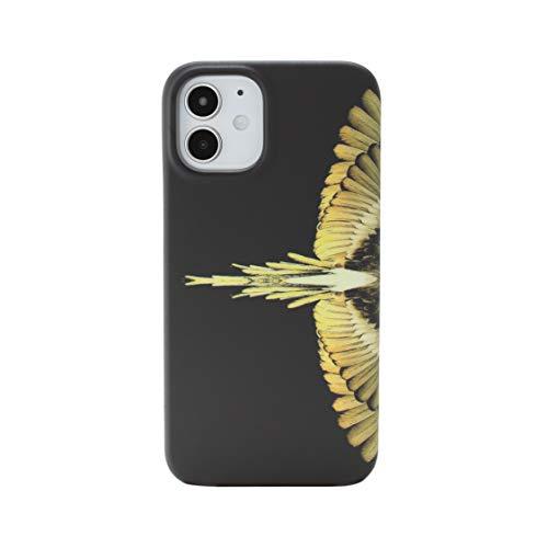 MARCELO BURLON COUNTY OF MILAN Cover/Custodia Compatibile con iPhone 12 Mini - Custodia Burlon Originale con Vetro temprato 9H - Custodia Rigida - Soft Touch e Antiurto -Protezione Frontale rialzata