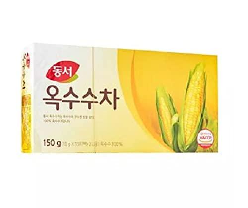 Dongsuh Té de maíz (10 g x 15 bolsitas de té) 150 g - Disfruta del refresco de la naturaleza y la curación. Beba frío en verano y caliente en la temporada de invierno