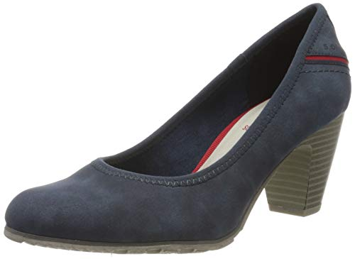 s.Oliver Damen 5-5-22404-24 Pumps, Blau (Denim 802), 41 EU