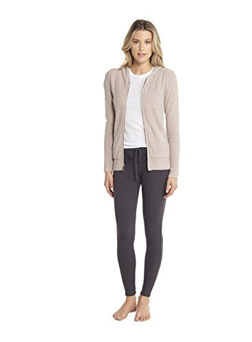 Barefoot Dreams CozyChic Lite Women's Zip-Up Hoodie, Faded Rose, X-Small