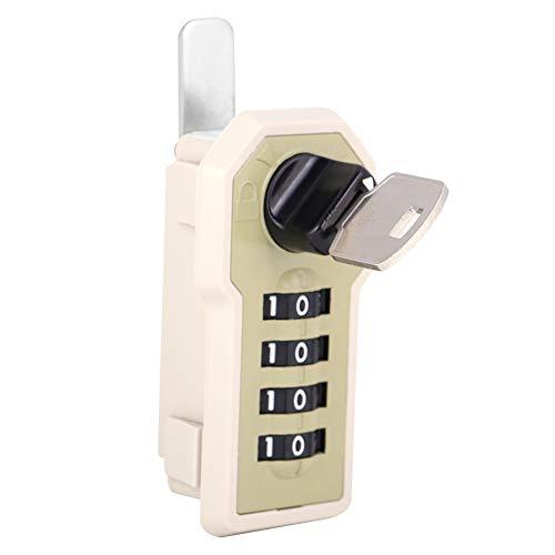 Zyyini kast, 4 cijfers, code-cam-kast, praktisch veiligheidsslot met code voor gereedschapskist, kasten, laden