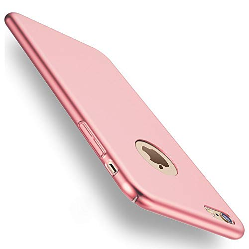Hexcbay Cover iPhone 8 iPhone 7 Custodia, Sottile Leggera Ultra Sottile in plastica Protezione Completa Anti-graffio Anti-Impronta Custodia Opaca Custodia Protettiva (iPhone 8 Plus /7 Plus, Rosa)