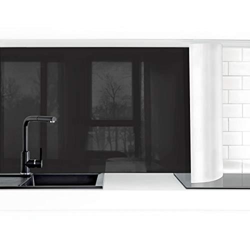 Bilderwelten Küchenrückwand Folie selbstklebend wasserfest Tiefschwarz 50 x 150 cm Premium