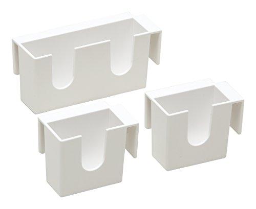 アイワ 冷蔵庫収納 ホワイト 冷蔵庫ミニポケット_大1個・小2個_日本製