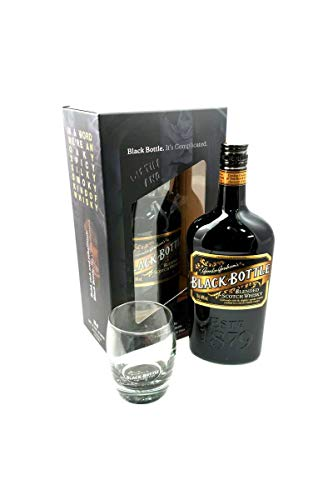 Black Bottle Blended Scotch Whisky 70cl, with a Black Bottle Limited Edition Whisky Tumbler